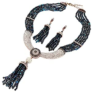 Jewelry Set for Women Women's Vintage Alloy Silver/Gold Long Bohemian Bohemian Necklace Ethnic Tribal Bohemian Necklace…