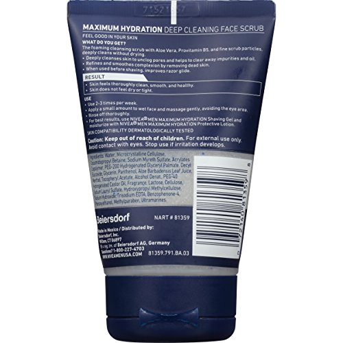 NIVEA Men Deep Cleaning Face Scrub 4.4 Ounce (Pack of 3) (Packaging May Vary) by Nivea Men (Image #1)