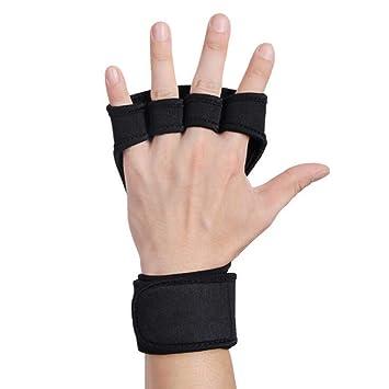 Guantes de protección Guantes de fitness wristband medio dedo hombres y mujeres guantes de deportes al
