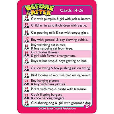 Super Duper Publications Before & After Fun Deck Flash Cards Educational Learning Resource for Children: Toys & Games