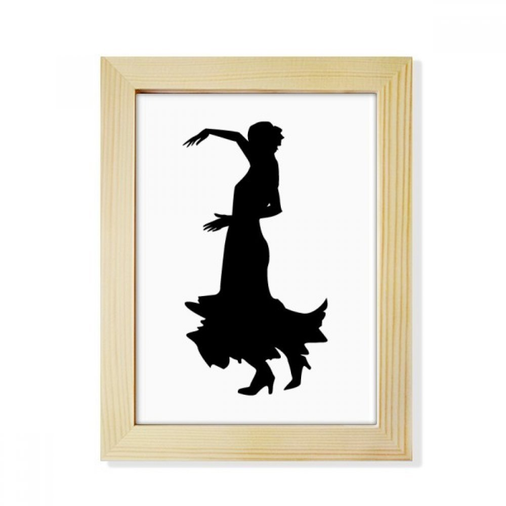 Performance Folk Dance Dancer Desktop Wooden Photo Frame Picture Art Painting 6x8 inch