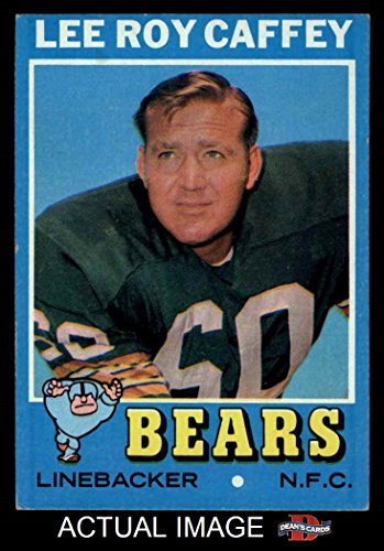 1971 Card Football Topps (1971 Topps # 203 Lee Roy Caffey Chicago Bears (Football Card) Dean's Cards 5 - EX Bears)
