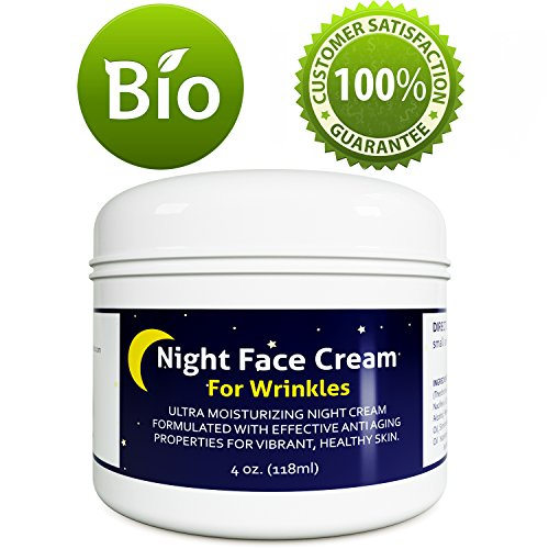 514vvxYTckL - Anti Aging Night Cream Moisturizer for Dry Skin - Firming Cream For Women & Men - Best Anti Wrinkle Cream for Sensitive Skin - Collagen Booster - All Natural Skin Care with Antioxidants & Shea Butter