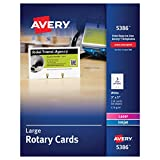 Avery 5386 Large Rotary Cards, Laser/Inkjet, 3 x 5, 3 Cards per Sheet (Box of 150 Cards)