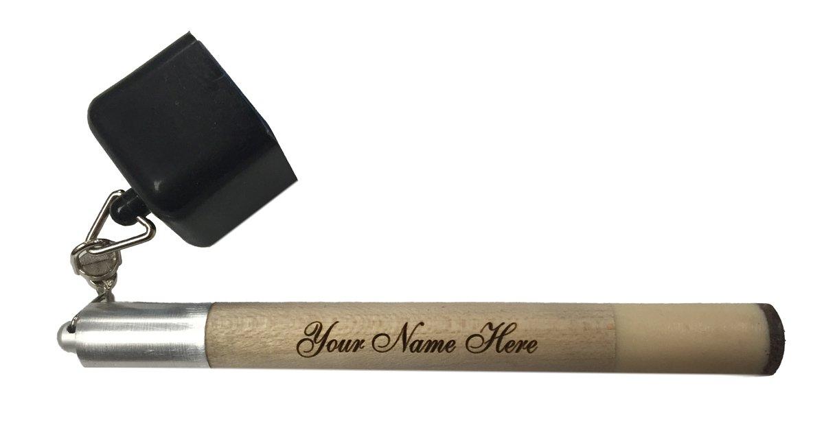 Alex Austin Custom Engraved Tip Pick Pocket Chalker Holder for Billiard Cue Includes Tip Pricker Prep Tool and One Piece of Pocket Chalk