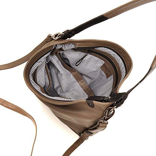 berba Stella 602 Besace à courte bandoulière en taupe