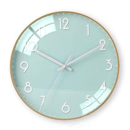 Amazon Com Krfrl Clocks Modern Minimalist Flat Glass Round