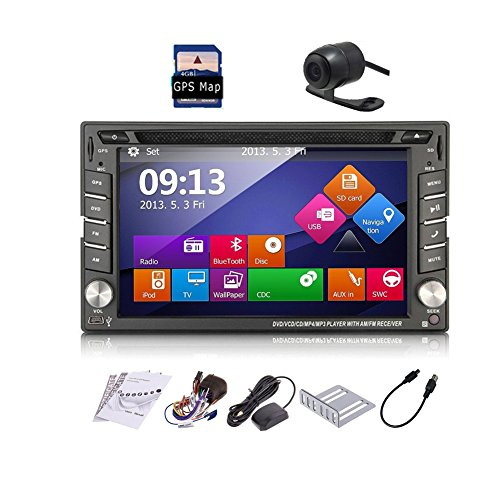 Car Autoradio 2din GPS SAT Navigation TouchScreen Car - Stereo Car Gps Camera Bluetooth