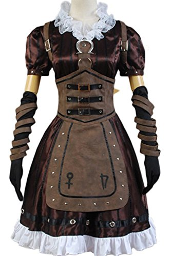 Madness Returns Costumes (Cosdaddy® Alice Madness Returns Cosplay Costume Alice Stream Halloween Dress (Woman-M))
