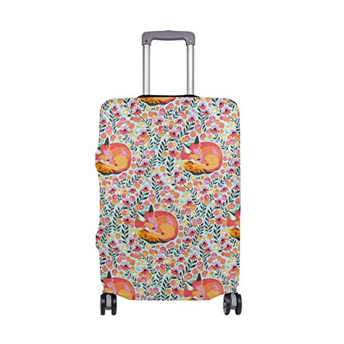 Pink Chipper Fox Travel Luggage Cover Suitcase Protector Fits 22-24 Inch Luggage ()