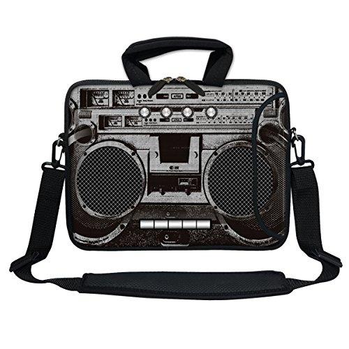 Meffort Inc 11.6 Inch Neoprene Laptop Bag with Extra Side Pocket, Soft Carrying Handle & Removable Shoulder Strap for 10