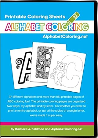 Amazon.com: Alphabet Coloring - Printable Coloring Sheets: Toys ...