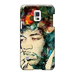 Shock Absorbent Hard Cell-phone Cases For Samsung Galaxy S5 Mini With Provide Private Custom Colorful Jimi Hendrix Pattern JasonPelletier