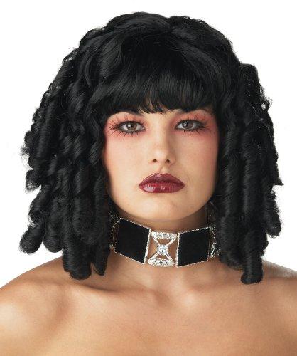 Club Curls Wig (California Costume Women's Club Curls Wig, Black, ADULT)
