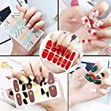 6 Sheets Nail Art Stickers Assortment Of Colors And Designs Great Party Favors Gift (Style Random)