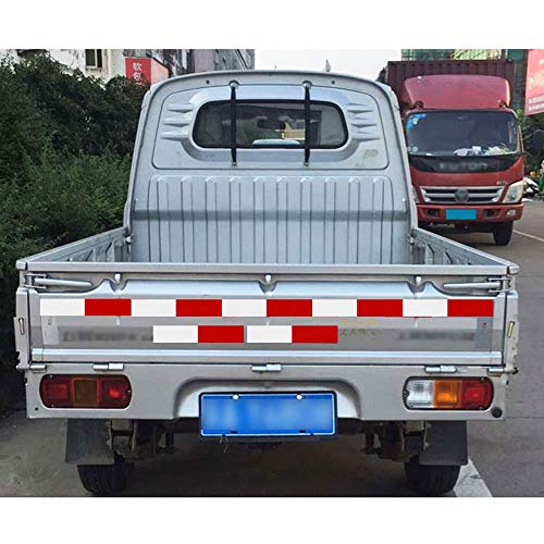 10pcs/Set Car Reflective Stickers Warning Strip Reflective Truck Auto Night Driving by BENBW (Image #2)