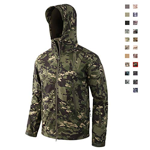(Military Ba Jacket for Hunting and Construction with Teflon Fabric Protector-CP Green)