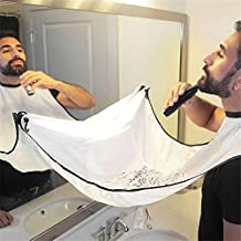 Mytop Beard Bib Shaving Mirror & Beard Catcher Apron for Shaving-Trim Your Beard In Minutes Without The Mess And Stop Clogging Your Sink - White
