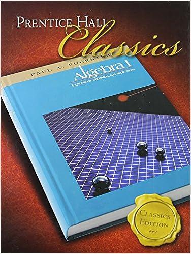paul foerster algebra 1 solutions manual