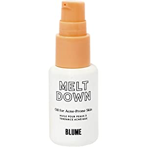 BLUME Meltdown   Acne treatment   For all skin types   Reduces acne scarring & inflammation   All Natural Ingredients: Black cumin seed oil, rosehip oil, tea tree oil, and lavender oil   0.5 oz