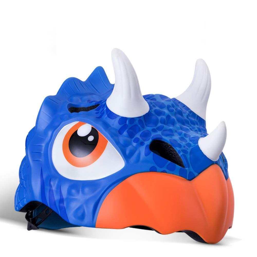 キッズヘルメット 子供用ヘルメット恐竜/ユニコーン/魚/虎/鮫/ワニ柄(頭囲5257cm) (Color : Pattern-01)   B07Q1FJNSC