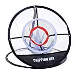 LBgrandspec Chipping Net Hitting Aid Portable Golf Cutting Bar Practice Training Sports Tool Golf Goal net, Cutting Practice net, Collecting net, Folding, Convenient Storage