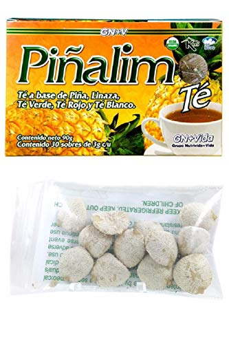 Te Pinalim Tea GN+Vida Weight Loss Tea Diet 30 Day Supply AND Indian Nut 12 seeds For Weight Loss