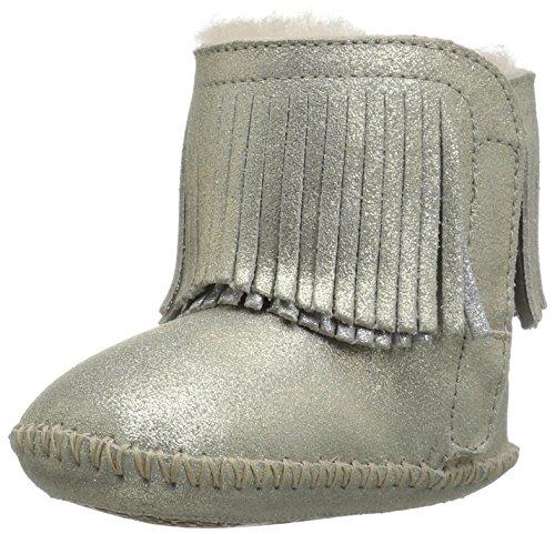 UGG Girls I Branyon Fringe Metallic Boot, Gold, 3 M US Infant