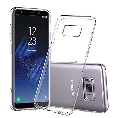 Shamo's for Galaxy S8 Case, S8 Clear Case, [Crystal Clear] Case [Shock Absorption] Cover TPU Rubber Gel [Anti Scratch] Transparent Clear Back Case, Soft Silicone, TPU (Clear)