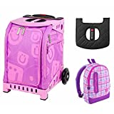 ZUCA Kids' Mini Smile Bag / Pink Frame + Backpack and Seat Cushion