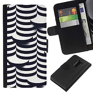 LG G2 / D800 / D802 / D803 / VS980 Modelo colorido cuero carpeta tirón caso cubierta piel Holster Funda protección - 3D Art Coin White Black Building