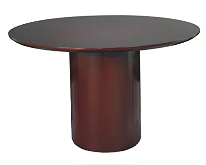 Amazoncom Napoli Round Conference Table Sierra Cherry On - Napoli conference table