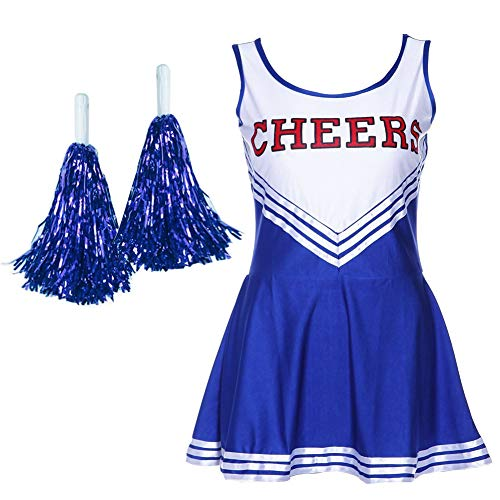 Women's Girl Musical Uniform Fancy Halloween Dress Costume Complete Outfit Cheer Leader Cheerleading -