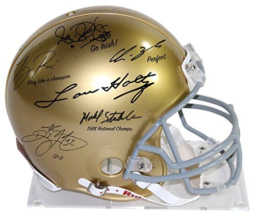 - Steiner Sports NCAA Notre Dame Fighting Irish 1988 6 Sigture Le 1/88 Authentic Helmet