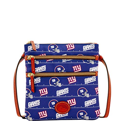 Dooney & Bourke NFL NY New York Giants North South Triple Zip Shoulder Bag ()