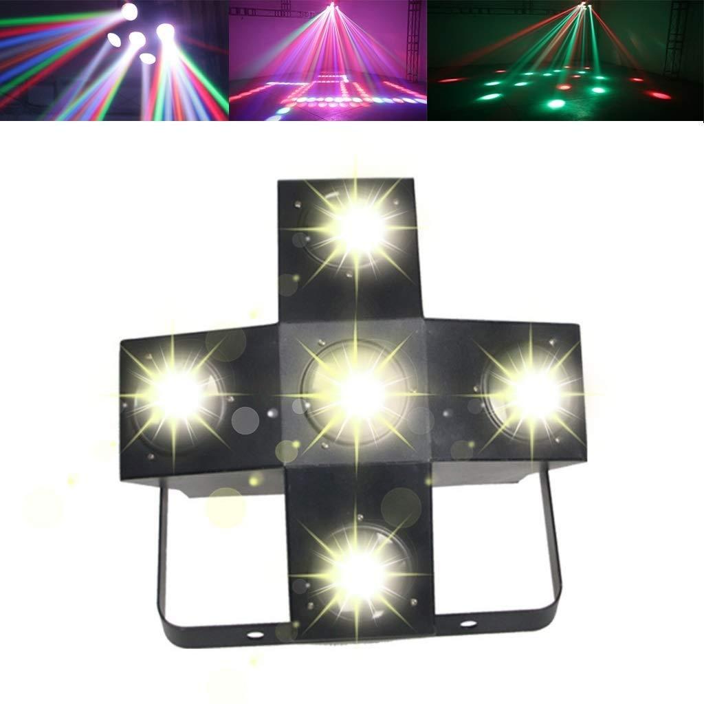 HDZWW Sound Activated Party Lights Dj Lighting RBG Disco Ball 5 Colors Strobe Lamp Par Light for Home Room Dance Parties Birthday DJ Bar Karaoke Xmas Wedding Show Club Pub