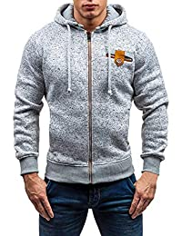 Mens Casual Zipper Long Sleeve Warm Pullover Sweatshirt Hoodie Coat Top