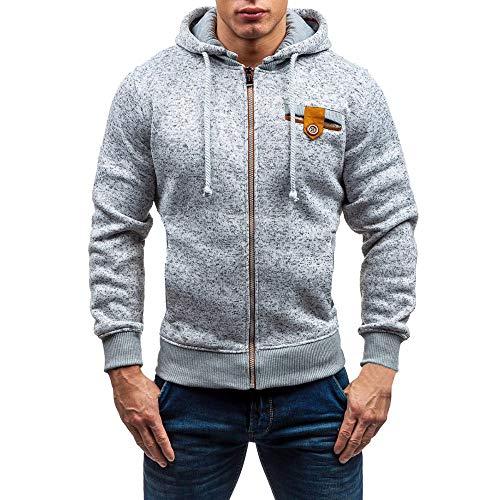 Pour Hommes Sweats Capuche Sweat À Jacket Chemisier Gris Slim Sport shirts Manadlian Zipper De Homme Hoodies Veste x60O7wp8Yq