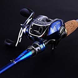 Sougayilang 2-Piece Baitcasting Fishing Rod with Fishing Reel Combos Left/Right …