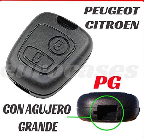 PG Carcasa llave coche CITROEN CL C1 C2 C3 C4 BERLINGO XSARA JUMPY 2 BOTONES PEUGEOT: 106 206 207 306 307 308 406 407 partner