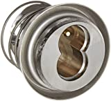 Arrow Lock 16CR27 AR18 Satin Chrome Brass Interchangeable Core Tapered Mortise Cylinder Housing with Adams Rite Cam, 1-5/32'' Diameter, 1-1/4'' Length (Pack of 1)