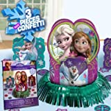 Disney Frozen Table Decorating Kit Assorted Birthday Party Decoration (23 Pack), Multi Color, .