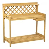 Potting Bench Outdoor Garden Work Station Planting Wood Construction Solid Home Fir