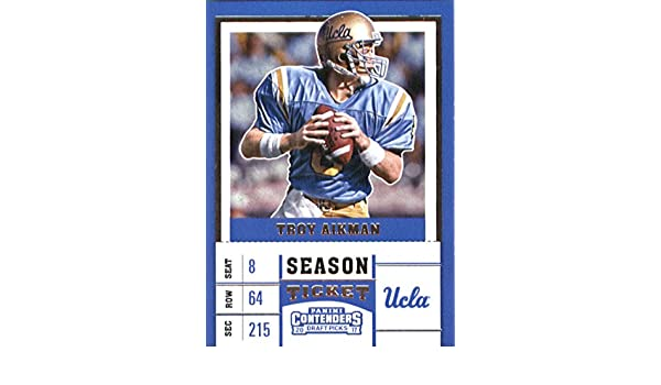 a2aa4fd9d Amazon.com  2017 Panini Contenders Draft Picks Season Ticket  99 Troy  Aikman UCLA Bruins Football Card  Collectibles   Fine Art