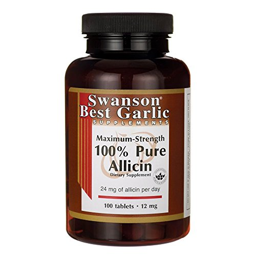 Swanson Maximum-Strength 100% Pure Allicin 12 Milligrams 100 Tabs
