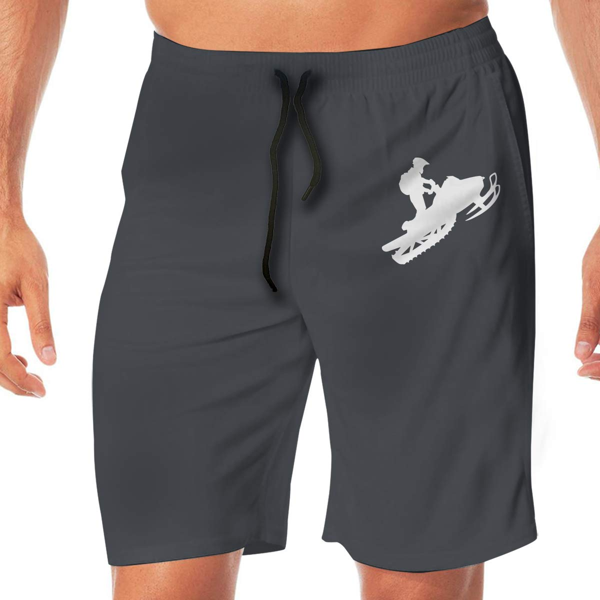 Snowmobile Mens Casual Beach Shorts Quick Dry Surf Shorts