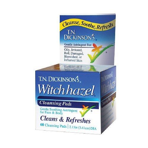 T.N. Dickinsons Hazelets Witch Hazel Pads - 60 Ea