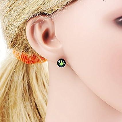 Amazon Com 1 Pair Of Bob Marley Piercing Tapers Plug Weed Ear Stud