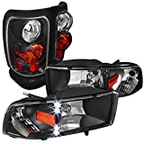 95 dodge 2500 led headlights - Dodge Ram 1500/2500/3500 Black Led Drl Head Lights, Altezza Tail Lamps