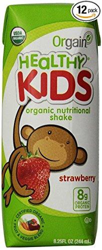 Orgain Organic社 オーガニック(有機栽培) 海外直送品並行輸入品 (12本(224ml×12), 子供用オーガニック栄養シェイク ストロベリー味Kids Organic Nutritional Shake Strawberry) B016XYCX06 12本(224ml×12) 子供用オーガニック栄養シェイク ストロベリー味Kids Organic Nutritional Shake Strawberry 子供用オーガニック栄養シェイク ストロベリー味Kids Organic Nutritional Shake Strawberry 12本(224ml×12)